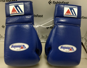 WINNING Boxing Gloves MS-500 Blue Lace Up Pro Type Training 14 oz Japan NEW