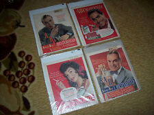 Lot of 4 Vintage Chesterfield Cigarette Ads Bob Hope Tyrone Power Charles Boyer