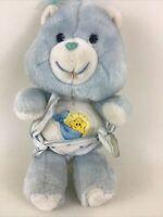 "Kenner Care Bears Baby Tugs Boy Bear 10"" Plush Stuffed Animal Toy Vintage 1983"