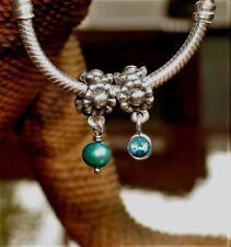 "Genuine Pandora Paraiba Topaz Dangle Charm ""The Holy Grail"" Replacment 790386TPP"