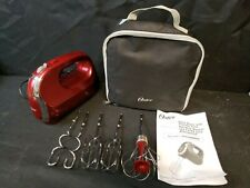 Oster 7 Speed Red Hand Mixer W Storage Case Instructions & 3 Accessories 164314