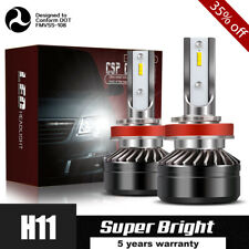 H11 H8 H9 LED Headlight Bulb 60W 12000LM Kit Low Beam Premium 6000K White Lamp