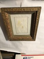 "Vintage Antique Victorian  Shadow box Picture Frame Fits 8"" by 10"" Painting"