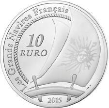 FRANCE 10 Euro Argent BE 2015 Grand Navire Français le Soleil Royal  Silver coin