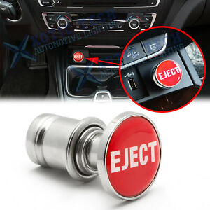 """Universal Sports Red """"Eject"""" Push Button Design Car Cigarette Lighter Plug Cover"""