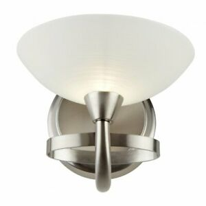Endon CAGNEY-1WBSC Satin Nickel Cagney Wall Light 33W