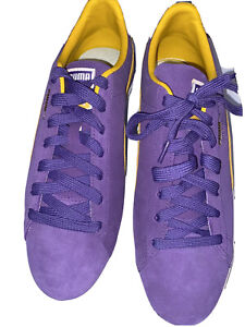 PUMA SUEDE NBA TEAMS LOS ANGELES LAKERS 380168-03 Violet Yellow US 11.5 RARE