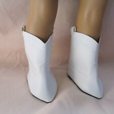 """American Girl 18"""" White Coboy Boots with Stitch Detail DD100WH"""