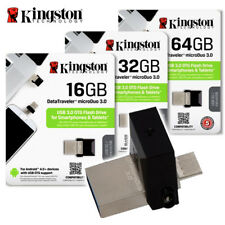 Kingston DTDUO3 16GB 32GB 64GB Data Traveler Micro Duo USB 3.0  ON-THE-GO