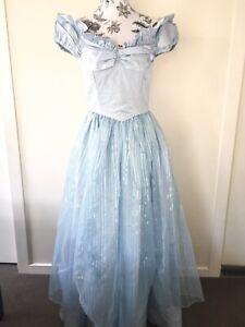 Vintage 80s Homemade Light Blue Princess Frozen Dress Fit 8-10