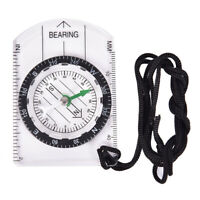 1pc Outdoor Hiking Camping Compass Map Scale Ruler Multifunctional Equipm abJCAU