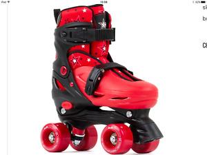 SFR Nebula Adjustable Size  Quad Skates Black Red