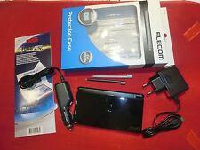 Nintendo DS Lite Konsole in Schwarz mit Zubehörpaket,