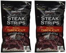 2Pk Kirkland Signature Premium Beef Steak Strips Jerky 12 Oz