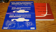 1965 Ford Thunderbird Shop & Assembly Manual Lot of 4 65 Engine Body Electrical