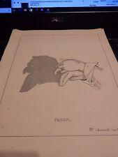 Marioneta De Mano Fagan-Victoriano sombra 1880 S Original Placa de 19 X 24 Cm