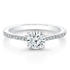 New Round 0.71 Carat Diamond Engagement Ring 14K Solid White Gold Size L M N O P