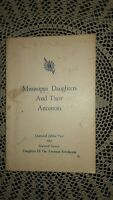 MISSISSIPPI DAUGHTERS AND THEIR ANCESTORS 1965 DAR PB American Revolution