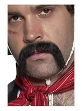 AUTHENTIC WESTERN MOUSTACHE MENS FANCY DRESS HANDLE BAR MOUSTACHE