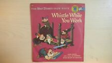 Golden Little YELLOW Record From Walt Disney's WHISTLE WHILE YOU WORK 78rpm 1949