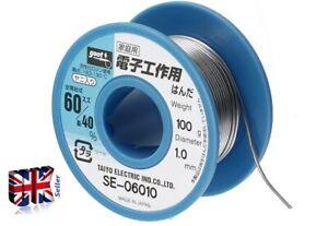 GOOT SE-06008 solder -SPECIAL SPOOL-SOLDERS Sn-Pb 60-40% ø0.8mm 100g