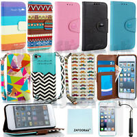 Leather Wallet Card Slots Case Cover For APPLE iPod Touch 5th 6th Generation 5/6