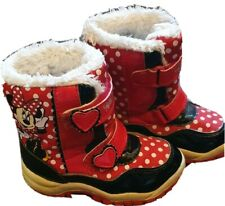 Minnie Mouse Snow Boots Girls Warm Winter  Uk 7 Eur  23-24