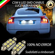 COPPIA LUCI TARGA 6 LED AUDI TT MK1 CANBUS 100% NO ERROR