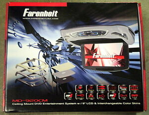 """NEW Farenheit MD-920CM Ceiling Mount DVD Entertainment System w/ 9"""" LCD"""