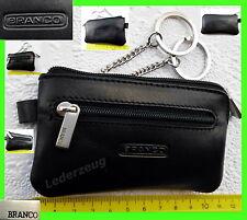 Branco Schlüsseltasche Leder schwarz Schlüsseletui Autoschlüssel Tasche Etui NEU