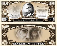 MALCOLM X BILLET MILLION DOLLAR US ! Collection BLACK PANTERS Power Histoire USA