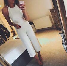 Zara Ecru Backless Short Leg Culotte Jumpsuit/Playsuit Size XS - UK 6 - BNWT