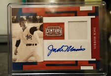 2010 panini century collection gm used patch Jack Morris autograph 089/100 MLB