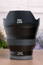 Zeiss Batis 18mm f2.8 Distagon T* Lens for Sony E Mount with Zeiss UV Filter