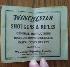Vintage Htf Winchester Arms Shotgun & Rifles Instructions Manual Booklet