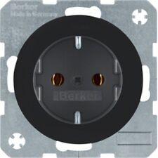Schuko Steckdose BERKER 47432045 Modellreihe R.1 / R.3 schwarz glänzend