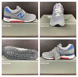 New Balance 1300 Grey Blue Red Suede Made In U.S.A. Men's Shoes [M1300ER] Sz 8.5