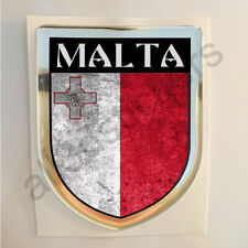Malta Sticker Resin Domed Stickers Flag Grunge 3D Adhesive Decal Gel Car Moto