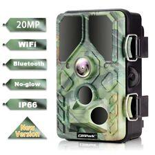 Campark WLAN Wildkamera 20MP HD 1296P Bluetooth No Grow IR Nachtsicht Jagdkamera