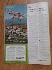 1967 Cessna 150 Airplane Ad Official Aircraft of Alaska 67 Centennial Exposition