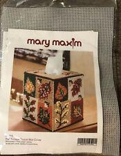 Mary Maxim FALL FOLIAGE Tissue Box Cover Plastic Canvas Kit NEW