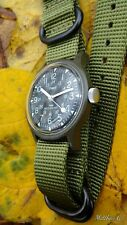 Vintage Timex Military Mechanical Field Watch. Zulu Strap. Excellent Timekeeper!