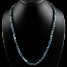 Edelsteinkette Schwarz Labradorit (Labradorite) 50cm Collier Halskette 4mm Perle