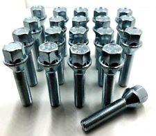 Chrome Wheel Bolt Nut Covers GEN2 17mm For Fiat Panda Mk2 03-12