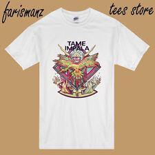 New Tame Impala Australian Rock Band  Men's White T-Shirt Size S to 3XL