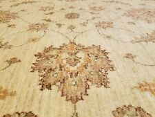"Exquisite Antique 1930-1940s Muted IvoryColors 6'10""x10'6"" Wool Pile Oushak Rug"