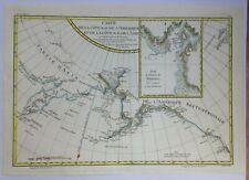 CANADA 1780 by RIGOBERT BONNE ANTIQUE ENGRAVED MAP XVIIIe CENTURY