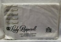 Vintage Lady Pepperell White Twin Flat Sheet Fine Combed Percale Cotton USA