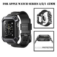 For Apple Watch S3 S2 S1 42mm, Genuine SUPCASE Watch Band Case with Band Strap