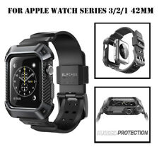 For Apple Watch S3 / S2 / S1 42mm, SUPCASE Watch Band Case Cover with Band Strap